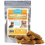 Raw Paws Soft Duck & Turkey Sausage Treats for Dogs & Cats, 6 oz