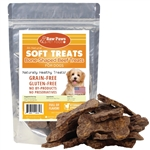 Raw Paws Soft Bone-Shaped Beef Jerky Treats for Dogs, 6 oz