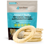 "Raw Paws Compressed Rawhide Rings, 6"" - 5 ct"