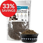 Raw Paws Grain-Free Turkey Recipe Kibble for Dogs (Bundle Deal)