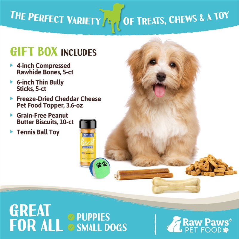 Raw Paws Birthday Gift Box For Puppies Small Dogs