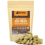 Raw Paws Soft Turkey & Sweet Potato Puppy Treats, 5 oz