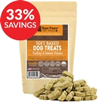 Raw Paws Soft Turkey & Sweet Potato Dog Treats, 5 oz