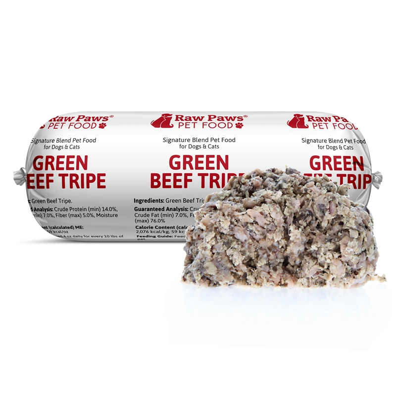 Raw Paws Signature Blend Green Beef Tripe For Dogs Cats 1 Lb