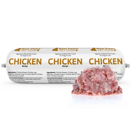 Raw Paws Complete Ground Chicken for Dogs & Cats