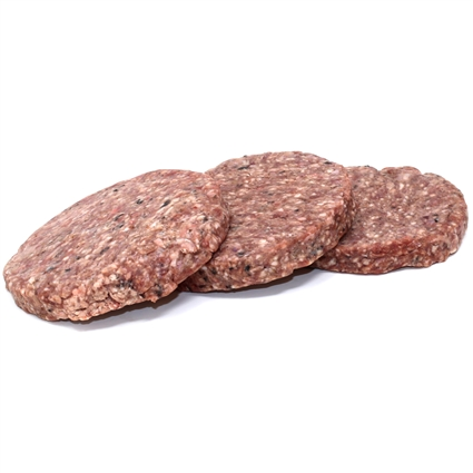 Raw Paws Signature Blend Complete Beef & Tripe Patties for Dogs & Cats, 8 oz - 10 ct