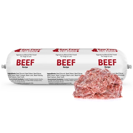 Raw Paws Signature Blend Complete Beef for Dogs & Cats, 3 lbs