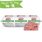 Raw Paws Signature Blend Complete Beef & Vegetable for Dogs & Cats, 3 lb