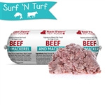Raw Paws Signature Blend Complete Ground Beef & Mackerel for Dogs & Cats, 1 lb