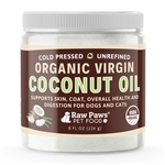 Raw Paws Organic Virgin Coconut Oil Supplement for Dogs & Cats, 8 fl oz