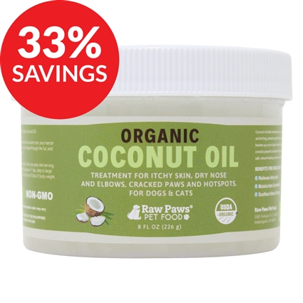 Raw Paws Topical Organic Coconut Oil for Dogs & Cats (Bundle Deal)