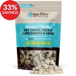 Raw Paws Omega 3 Skin and Coat Soft Chew Supplements for Dogs (Bundle Deal)