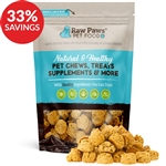 Raw Paws Gourmet Bacon & Cheddar Cheese Cookies for Dogs (Bundle Deal)