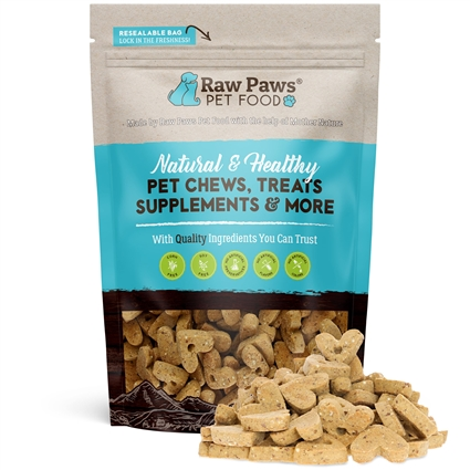 Raw Paws Gourmet Peanut Butter Biscuits for Dogs, 10 oz