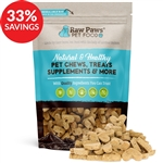 Raw Paws Gourmet Peanut Butter Biscuits for Dogs (Bundle Deal)