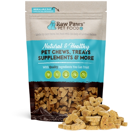 Raw Paws Gourmet Bacon & Cheddar Cheese Biscuits for Dogs, 10 oz