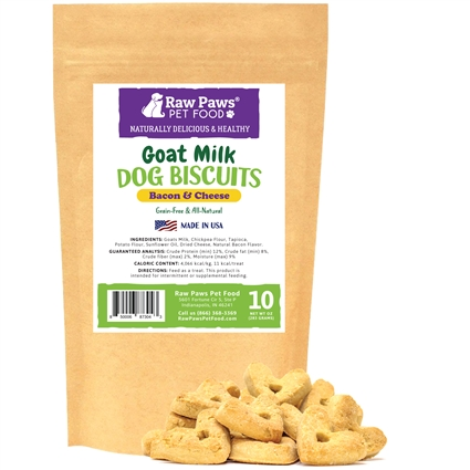 Gourmet Goat Milk Biscuits with Bacon & Cheddar for Dogs, 10 oz