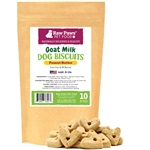 Gourmet Goat Milk Dog Biscuits with Peanut Butter for Dogs, 10 oz