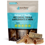 Raw Paws 3 inch Beef Trachea Chews for Dogs, 10 ct