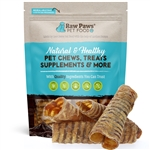 Raw Paws 6 inch Beef Trachea Chews for Dogs, 5 ct