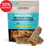 Raw Paws 6 inch Beef Trachea Chews (Bundle Deal)