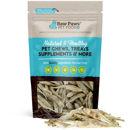 Raw Paws Freeze Dried Minnows for Dogs & Cats, 2 oz