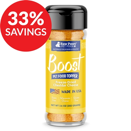 Boost Wisconsin Cheddar Cheese Pet Food Topper (Bundle Deal)
