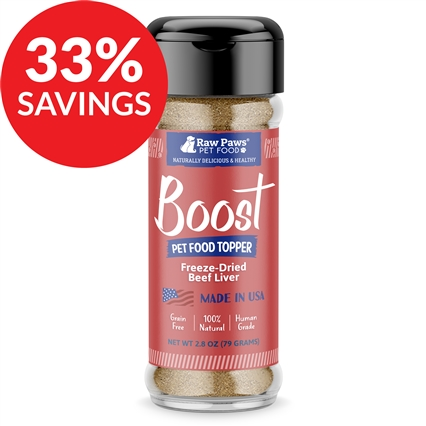 Boost Freeze Dried Beef Liver Pet Food Topper (Bundle Deal)