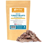 Freeze Dried Sliced Turkey Hearts for Dogs & Cats, 4 oz