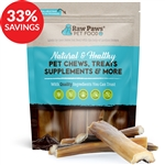 6-inch Natural Beef Head Skin Dog Chew (Bundle Deal)