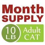 Month Supply - 10 lb Adult Cat