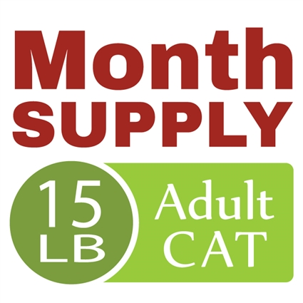 Month Supply - 15 lb Adult Cat