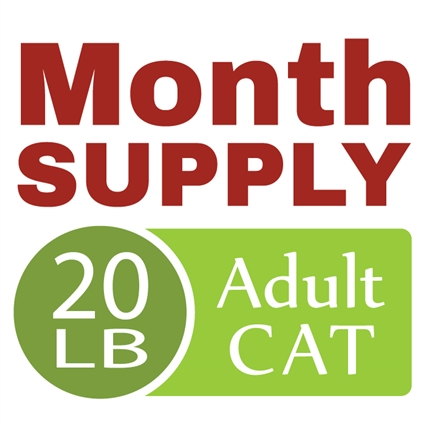 Month Supply - 20 lb Adult Cat