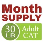 Month Supply - 30 lb Adult Cat