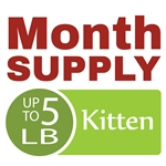 Month Supply - Up to 5 lb Kitten