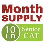 Month Supply - 10 lb Senior Cat