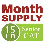 Month Supply - 15 lb Senior Cat