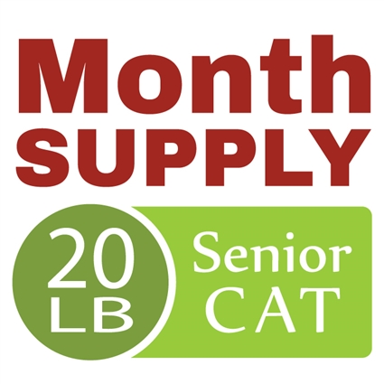 Month Supply - 20 lb Senior Cat