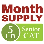 Month Supply - 5 lb Senior Cat