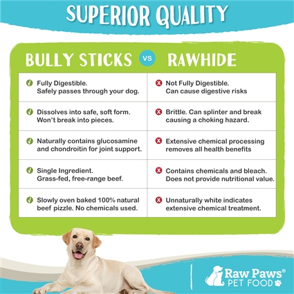 Raw Paws all natural pizzle sticks