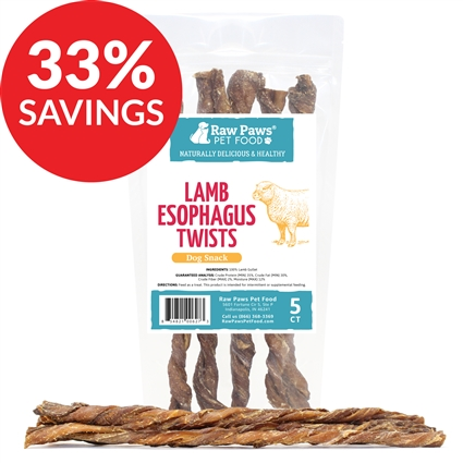 Lamb Esophagus Twist Treats (Bundle Deal)