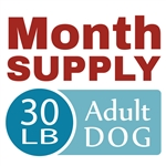 Month Supply - 30 lb Adult Dog