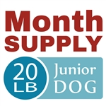 Month Supply - 20 lb Junior Dog