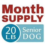 Month Supply - 20 lb Senior Dog