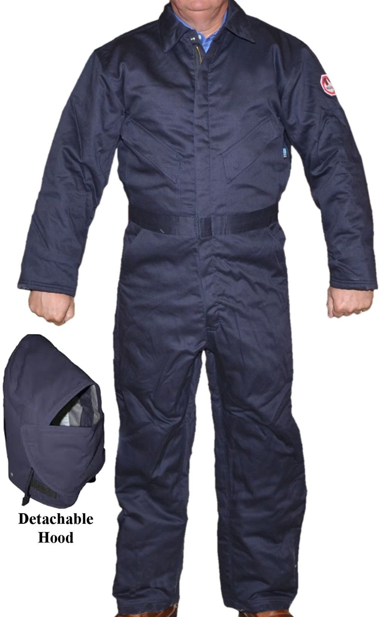 f9c067f7319b9 Walls FR 15026NA9 Navy Flame Resistant Insulated Coverall With ...