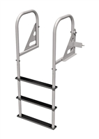 Swing Up Dock Ladder - Three Step, Stainless Steel