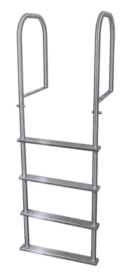 Four Step, Fixed, Topside-Mount Stainless Steel Dock Ladder