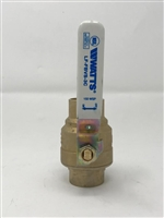 "1 1/2"" Full Port Sweat Ball Valve, Lead Free"