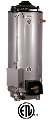 ULN-80-180-AS American Standard 80 Gallon Ultra Low NOx Heavy Duty Commercial Gas Water Heater