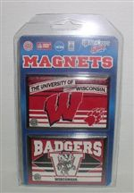 Wisconsin Badgers Magnets - Set of 2, Refrigerator